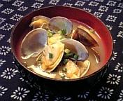 浅蜊のお味噌汁