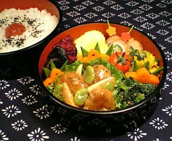鶏つくねの春野菜あんかけ