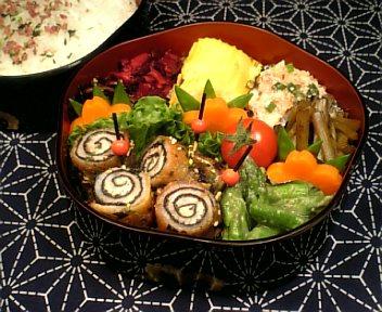 豚肉の海苔&チーズ巻き焼き