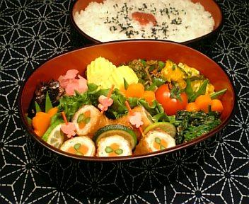 豚肉の野菜巻き 黒酢風味