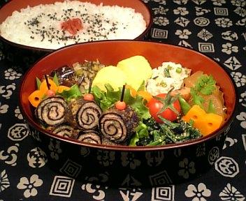 挽肉と野菜の磯辺巻き揚げ