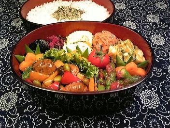 肉団子と野菜の黒酢風味炒め