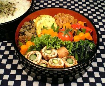 豚肉の梅大葉味噌ロール焼き2