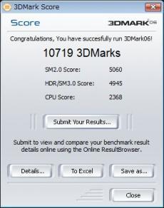 Vista 3DMark06スコア
