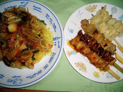 2007-3-3と~ちゃんの夕飯