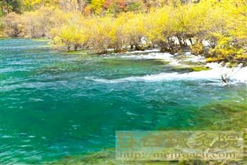 2011年10月九寨溝の紅葉と渓流3