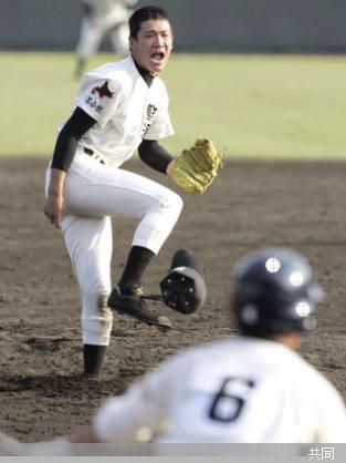 今治西戦で13三振を奪った駒大苫小牧先発の田中 Photo By 共同