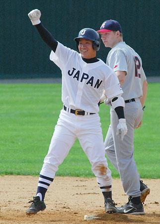 日米高校野球・ガッツポーズの宇高