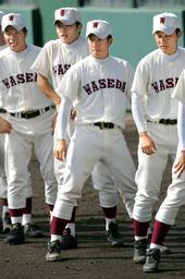 試合にのぞむ斎藤投手=4日午前、高砂市野球場で