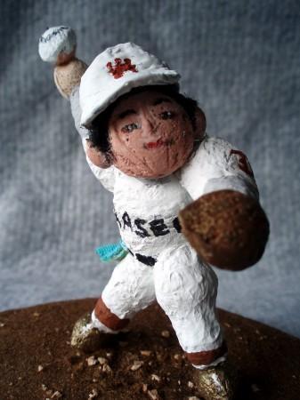 斎藤投手の梅人形