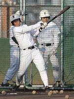 早大教育学部への進学が内定した早実・斎藤佑樹投手が「王貞治記念グラウンド」で始動