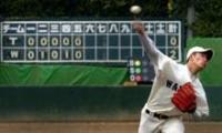 東海大とのオープン戦に先発した早大・斎藤は6回を2安打無失点の好投を見せる(撮影・為田聡史)