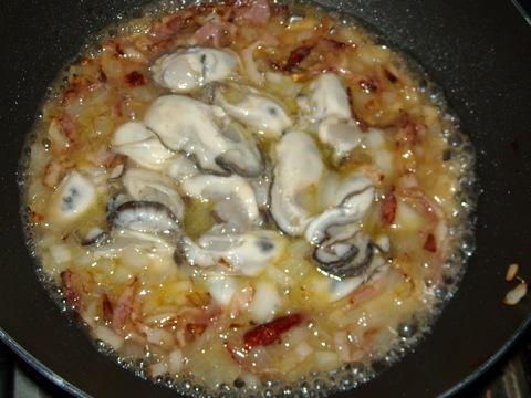牡蠣炒める