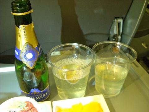 シャンパンとスカイタイム