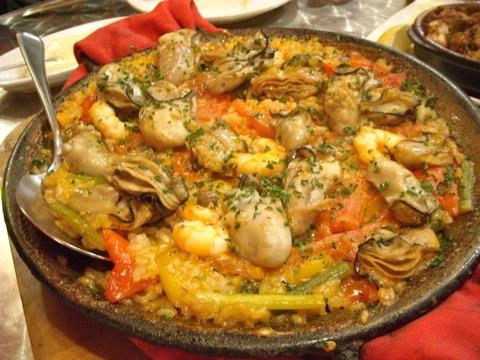 牡蠣のパエージャ