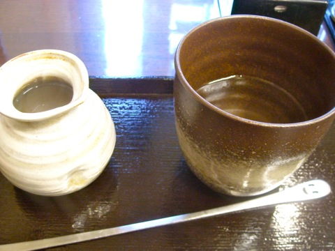 蕎麦焼酎と蕎麦湯