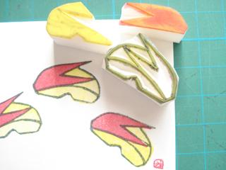 はんこ~リンゴのうさぎ2