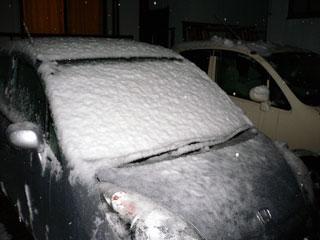 地元でも初雪