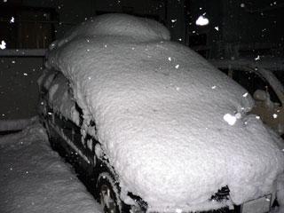 自宅の積雪