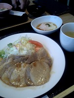 0813生姜焼き定食
