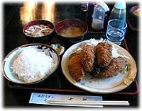 古都の牡蠣フライ定食(ご飯半分)