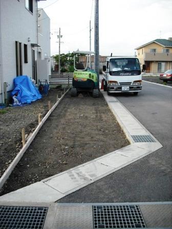 駐車場堀方砕石