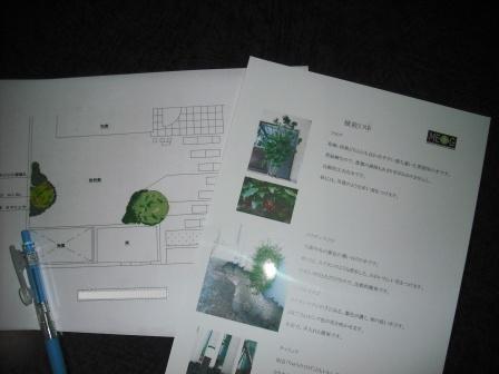 植栽リストと図面