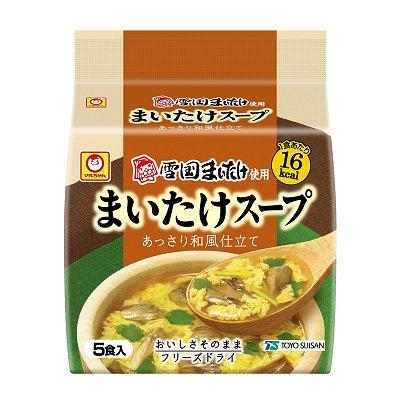 「マルちゃん まいたけスープ5P」