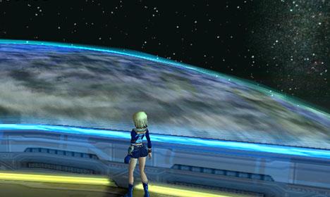 パイオニア2から見える惑星ラグオル