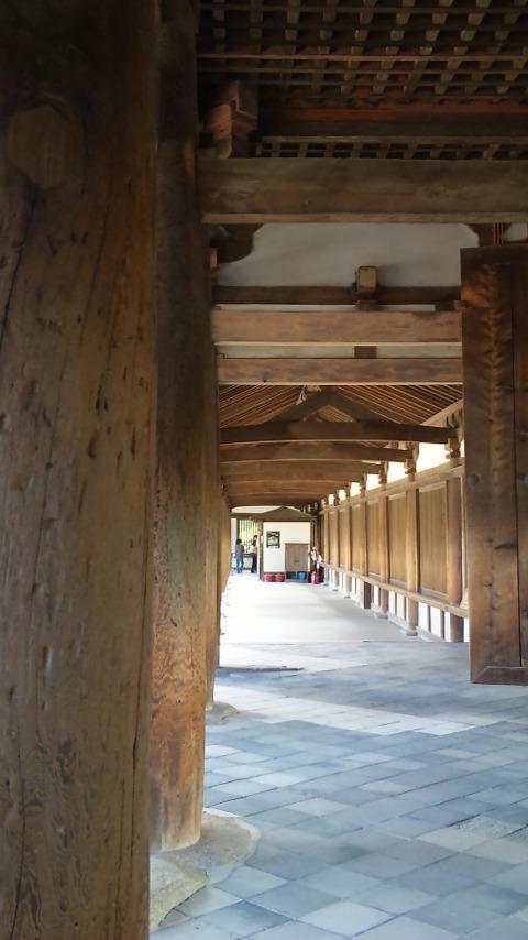 法隆寺 檜の柱