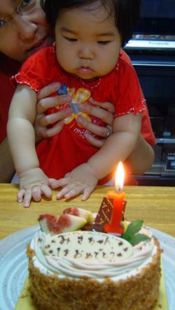 1th誕生ケーキ