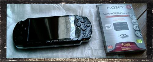 PSP本体とメモリーカード