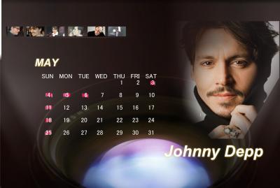 ジョニー5月カレンダー
