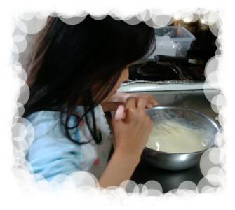 鯉のぼりアイスケーキ製作