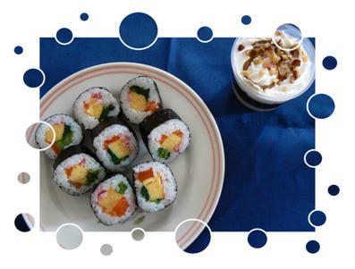 菜の花寿司&ゼリー