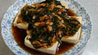 めかぶキムチ豆腐