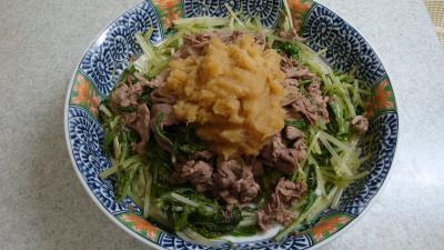 牛肉の蒸し煮おろしポン酢