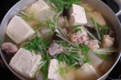 鶏手羽元と豆腐のスープ煮完成