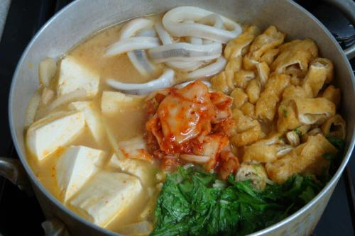 いかと豆腐のキムチチゲ