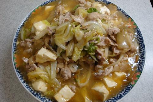 豚肉と豆腐と白菜の旨煮