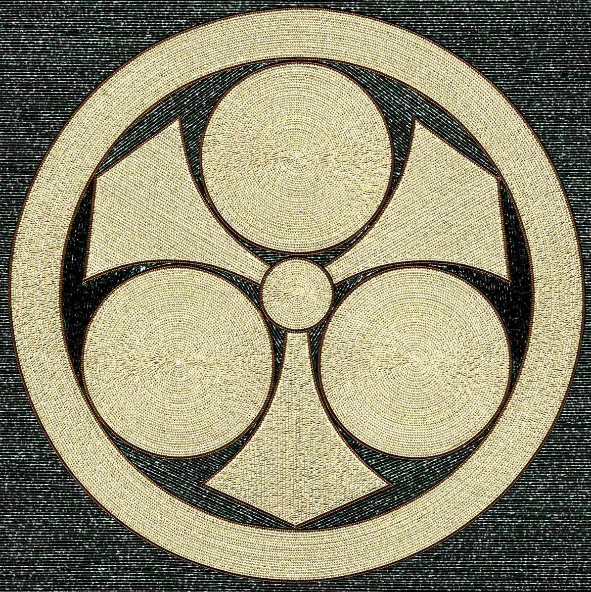 丸に剣三つ星