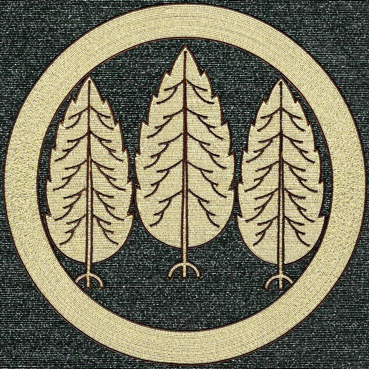 丸に三本杉