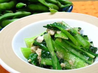 縮 小松菜とツナ