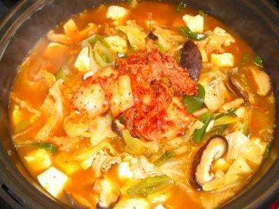 縮 キムチ鍋