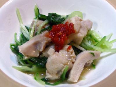 水菜と鶏肉
