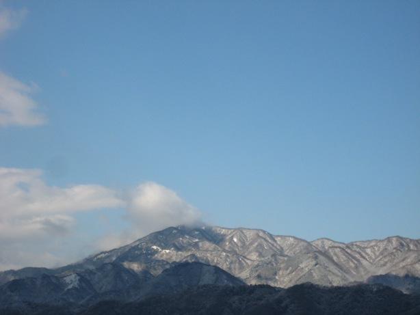 大山が雪化粧