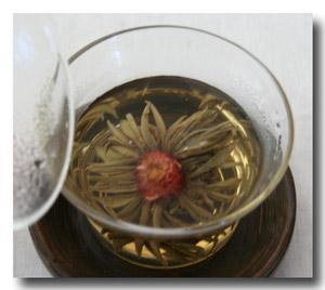 中国茶 花入り茉莉仙桃(赤色)