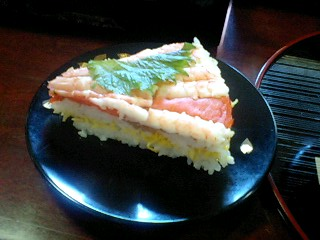 1月2日 圧し寿司断面