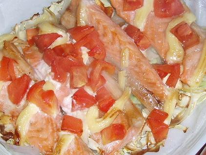 38鮭のハラスニンニク醤油マヨ焼き