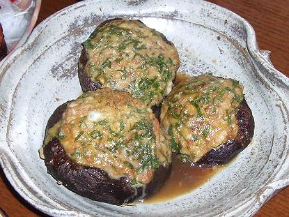 57椎茸の肉詰め